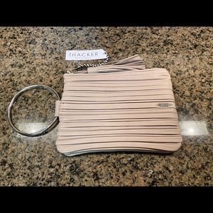 Thacker Nolita Small Pleated Leather Wristlet